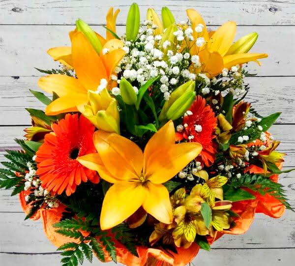 Ramo de flores para felicitación